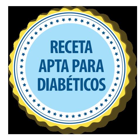 receta apropiada para diabéticos